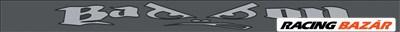 Napellenző szélvédő matrica Bad Boy grafit/szürke 125x10cm