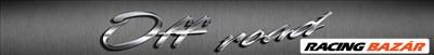 Napellenző szélvédő matrica Off Road ezüst/szürke 124x16cm