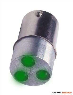 speciális LED izzó BA15s T15x35mm 3p zöld LED