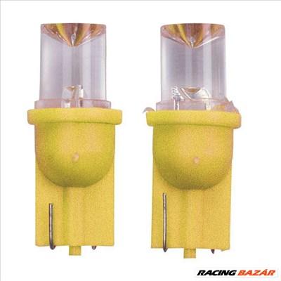 T-10 LED izzó sárga 12V 2 db WIDE ANG