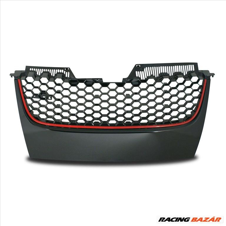 VW Golf 5 GTI méhsejt alakú rács fekete -vörös csíkkal 1. kép