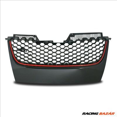 VW Golf 5 GTI méhsejt alakú rács fekete -vörös csíkkal