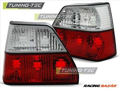 VW Golf 2 Tuning-Tec Hátsó Lámpa Piros/Kristály
