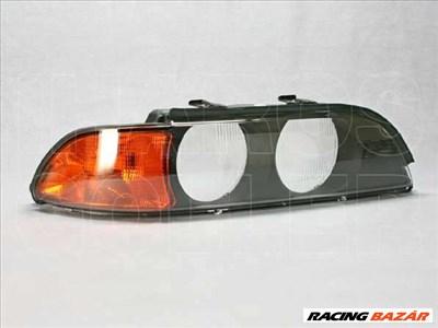 BMW 5 1995-2000 E39 - Fényszóró üveg jobb sárga vill. (halogén fsz) TYC*