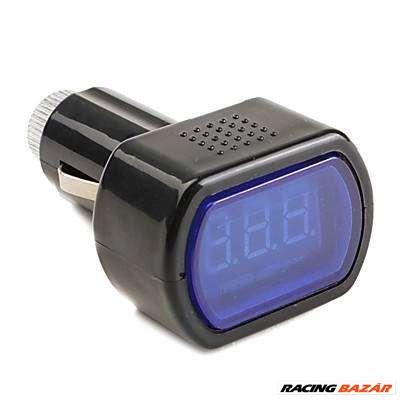 Digitális voltmérő szivargyújtó csatlakozóval (akkumulátor teszter)  WF021