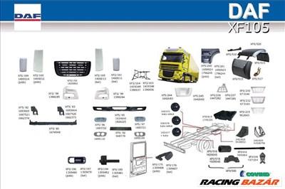 DAF XF105 ajtó sárvédő légterelő diszrács szélvédő fellépő lámpa lökhárító