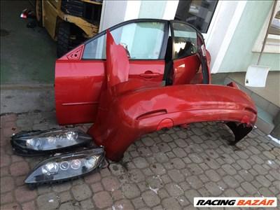 Mazda 6 2005 évj. bontott alkatrészei: lökhárító, sárvédő, ajtó, motorháztető, homlokfal.
