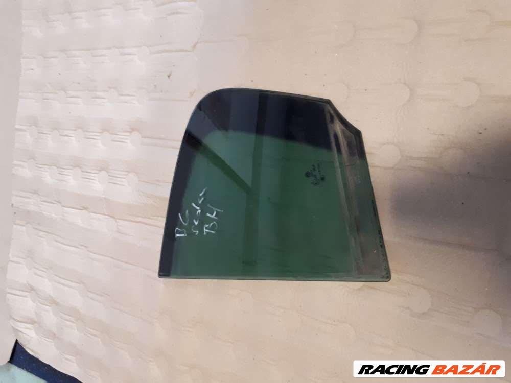 Volkswagen Passat B6 sedan bal hátsó ajtó fix üveg 1. kép