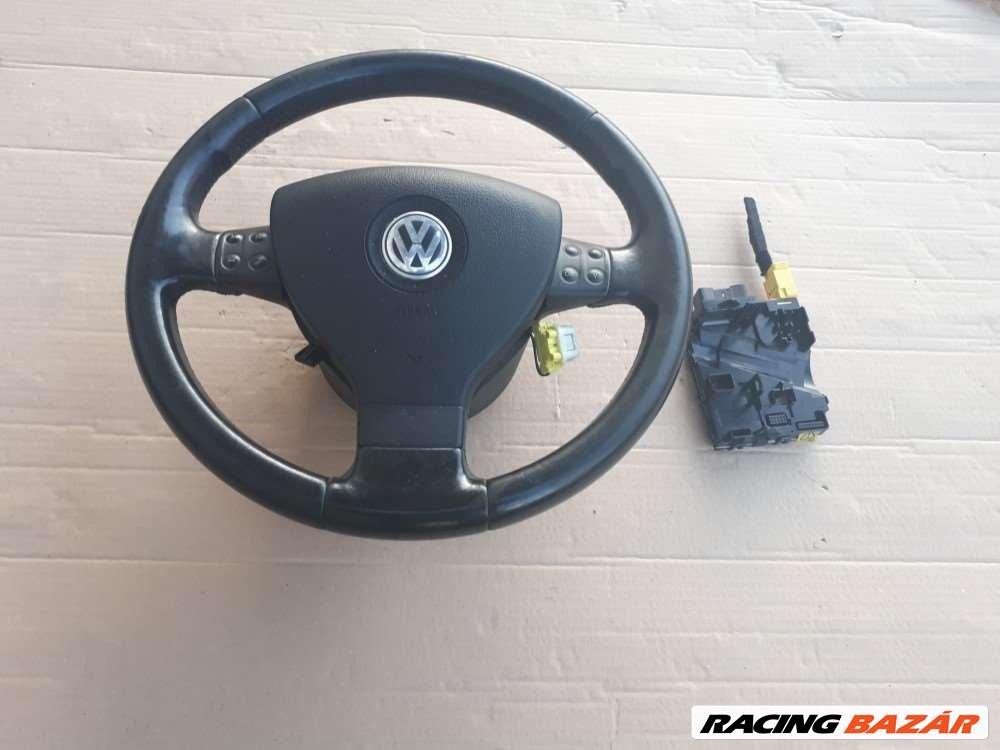 Volkswagen Golf V-Jetta-Passat mulifunkciós bőr kormánykerék+légzsák elektronikával 1. kép