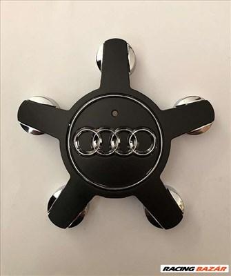 Audi csillag alufelni kupak - fekete 4F0601165