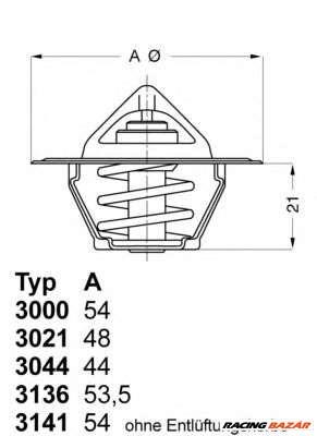 WAHLER 3044.80 - termosztát, hűtőfolyadék INNOCENTI