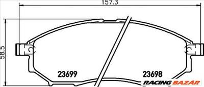TEXTAR 2369801 - fékbetét INFINITI MITSUBISHI NISSAN RENAULT RENAULT SAMSUNG
