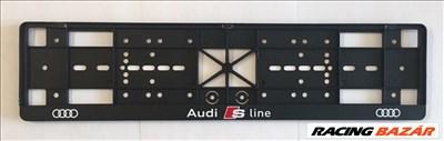 Audi -hoz S-line rendszám keret, tartó