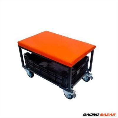 Lincos Szerelőszék, kivehető szerszámtartó ládával, narancs WS6540