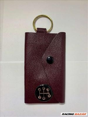 Kulcstartó valódibőr autó kulcs táska 5 sebesség