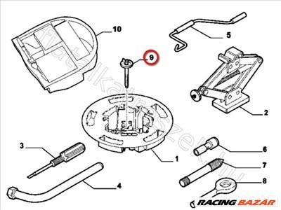 Pótkerék leszorító FIAT BRAVO II - FIAT eredeti