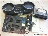 PEUGEOT 308 07.09-11.04 Motorvezérlő + kilóméteróra + BSI + gyújtáskapcsoló immogyűrűvel + bal első zárhenger
