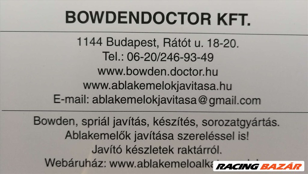 Motorkerékpárokhoz meghajtó spirálok,bowdenek javítása,készítése,garancia!www.bowden.doctor.hu 1. kép