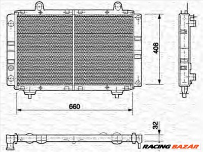MAGNETI MARELLI 350213454000 - Vízhűtő (Hűtőradiátor) ARO AUDI BARKAS CITROËN DAIMLER FIAT HYUNDAI M