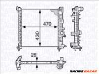 MAGNETI MARELLI 350213143300 - Vízhűtő (Hűtőradiátor) AC LINCOLN OPEL VAUXHALL
