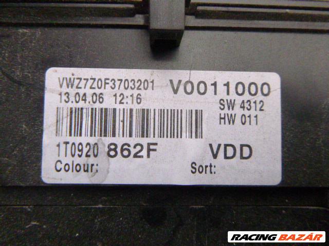 Volkswagen Touran I 1.9 TDI óracsoport ,, MŰSZERFALÓRA 1T0 920 862 F 6. nagy kép