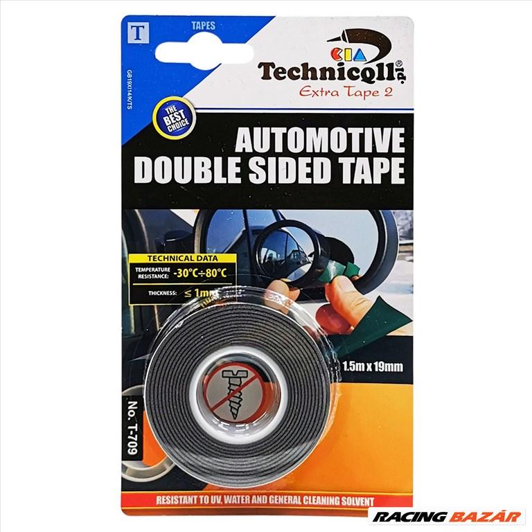 Kétoldalú extra erős ragasztószalag 1,5 m x 19 mm Technicoll T-709 1. kép