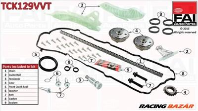 FAI TCK129VVT Vezérműlánc készlet Peugeot 2008 / 207 / 208 / 308 / 5008 / 508