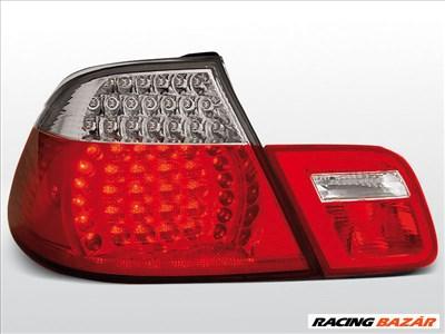 BMW E46 04.99-03.03 CABRIO Piros Fehér LED -es hátsó lámpa