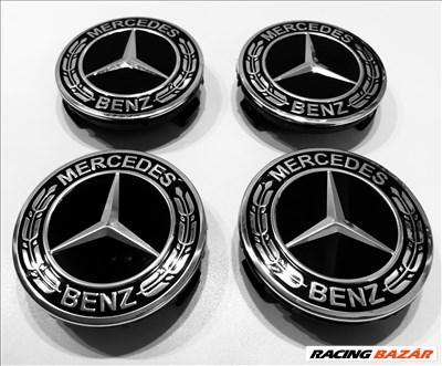 Mercedes-Benz ORIGINAL BLACK, NEW STYLE ,ALUFELNIKÖZÉP ,EMBLÉMA, alufelni középkupak