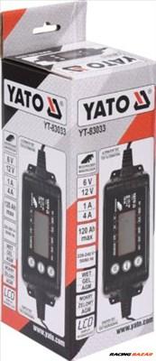 YATO Elektronikus akkumulátor töltő YT-83033