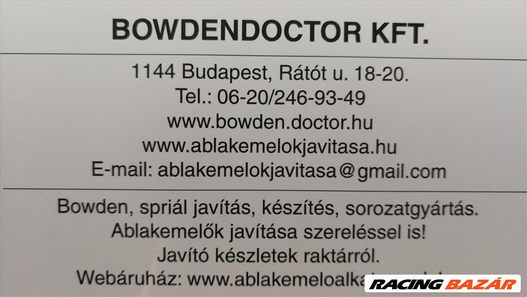 SAAB 9-3 ablakemelő avítás,szereléssel is,bowden,www.ablakemeloalkatreszek.hu 10. kép