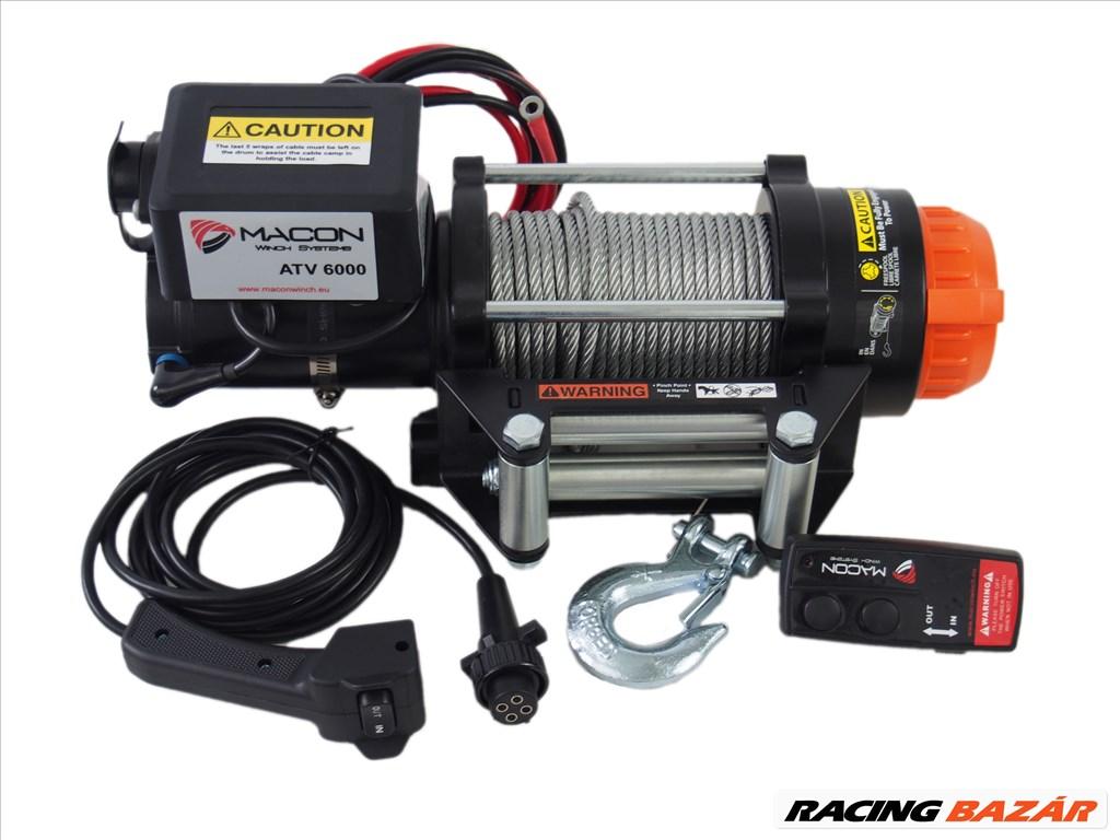 Utánfutó csörlő Macon Winch ATV 6000 elektromos csörlő 1. kép