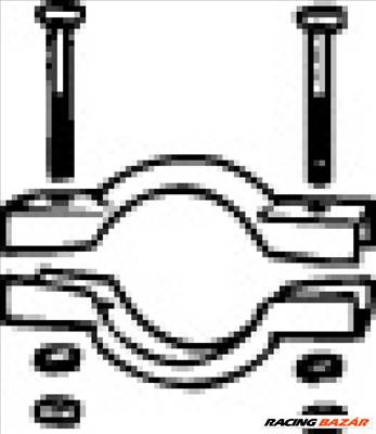 WALKER 82516 Kipufogó bilincs - FORD, RENAULT, CITROEN, PEUGEOT, FIAT, LANCIA, ZASTAVA