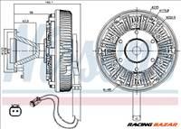 NISSENS 86125 Klíma/visco kuplung - TOYOTA, BMW, PEUGEOT, MINI, FORD, MAZDA, FSO