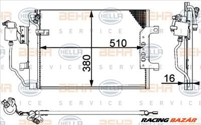 HELLA 8FC 351 301-364 Klímahűtő - MERCEDES-BENZ