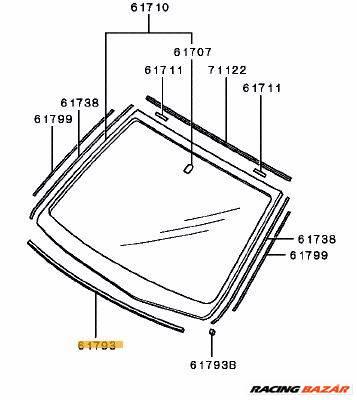 Mitsubishi Canter Szélvédő Tömítő Szivacs MB419223 MB4192231