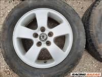15-ös Skoda Octavia I alufelni:5x100 6,5Jx15 Et40/Audi 3,Toledo/Leon, rajta kopott gumi