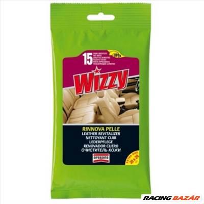 Wizzy bőrápoló nedves törlőkendő - (15 db) Wizzy Leather Revitalizer