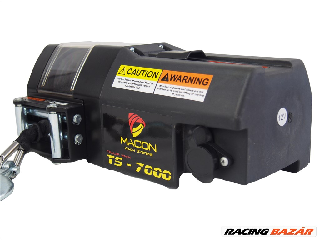 Utánfutó csörlő Macon TS-7000 szintetikus 3.5 tonna vonóerő 1. kép