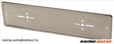 Rendszámtábla tartó, rozsdamentes acél