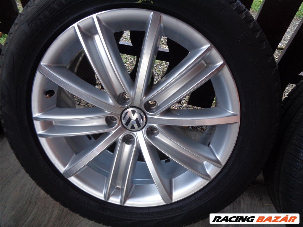 """Volkswagen Tiguan 5N """" New York """" gyári 7X18-as 5X112-es ET43-as könnyűfém felni garnítúra 2. kép"""