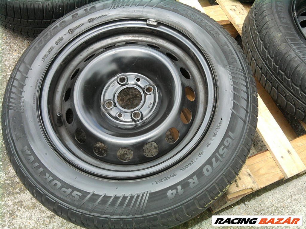 Alfa , Fiat , Lancia 14-es acélfelni 4x98-as , nyári gumival 5. kép