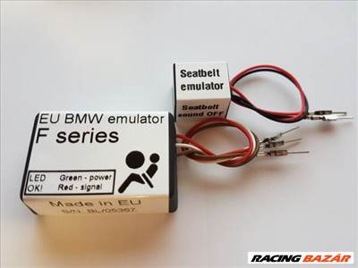BMW F szériás 4pines ülésfoglaltság érzékelő emulátor + öv emulátor F10 F12 F20 F01 F30 F25 F15