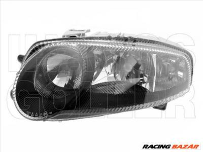 Alfa Romeo 147 2000.10.01-2004.10.31 Fényszóró 2H7/H1 bal, GTA, fekete házas (motorral) TYC (064K)