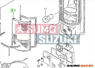 Suzuki Carry 1980-1985 jobb hátsó lámpabúra 35652-79502
